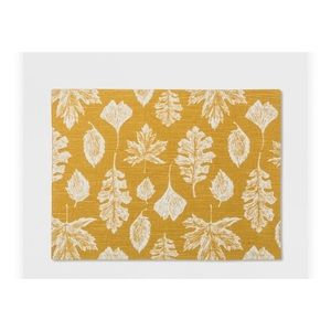 • THRESHOLD •(4) MUSTARD LEAVES PLACE MATS  NWT •